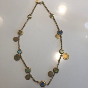 Gold and Blue Coach Necklace